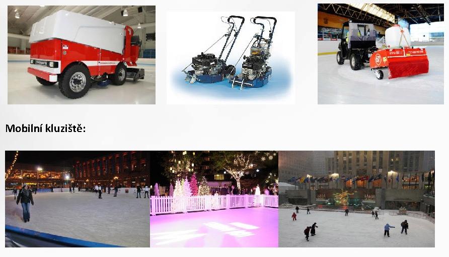 Půjčovna strojů na úpravu ledu, pronájem mobilního kluziště