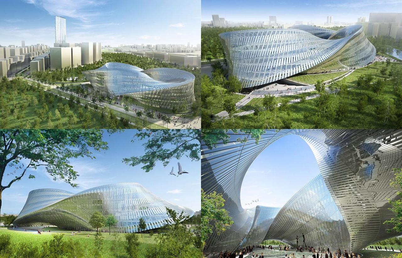 Vizualizace stadionu na Tchaj-wanu